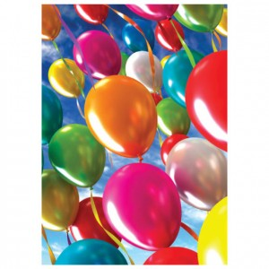 Balloons Perforated Bookmarks