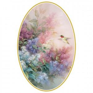 Hummingbird With Lilac (Lena Liu) Perforated Bookmarks