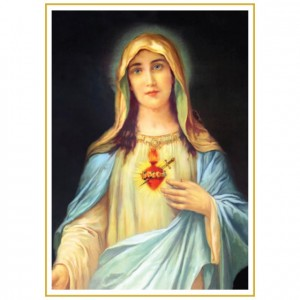 Immaculate Heart Of Mary Perforated Bookmarks