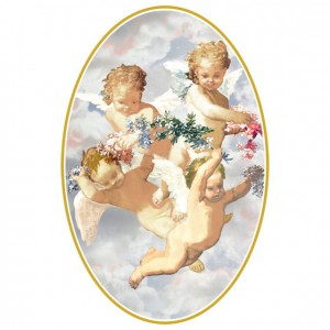 Pastel Cherubs Perforated Bookmarks