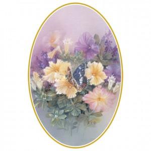 Petunias with Butterfly (Lena Liu) Singles