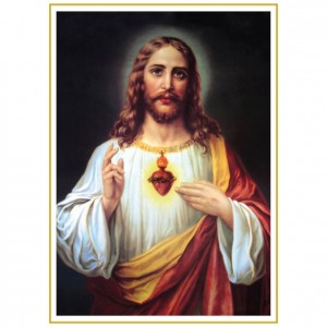Sacred Heart Of Jesus Perforated Bookmarks