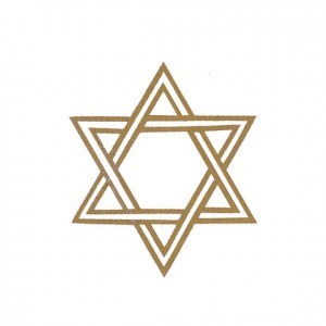 Star Of David Perforated Bookmarks