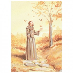 St Francis Of Assisi Perforated Bookmarks