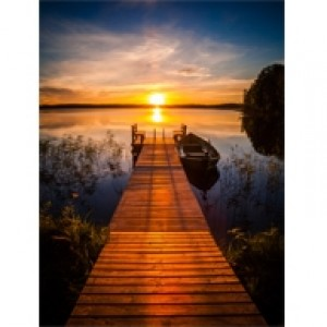 Sunset At The Lake Perforated Bookmarks