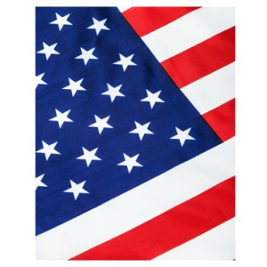USA Flag Perforated Bookmarks
