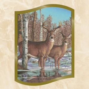 Woodlands Deer Perforated Bookmarks