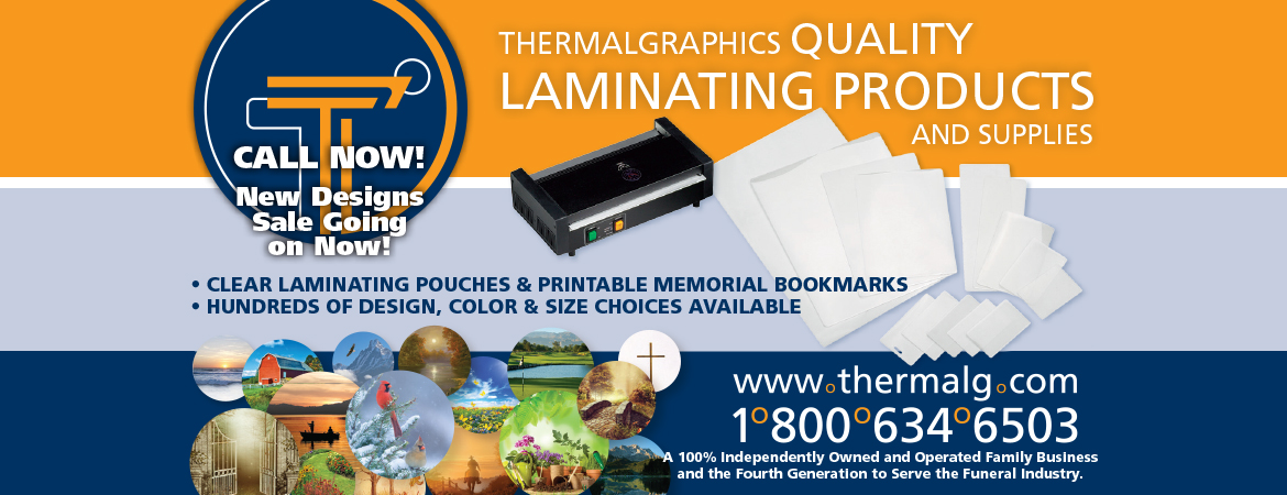 Clear Laminating Pouches, Memorial Bookmarks, Funeral Home